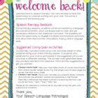 Parent Letter Speech Therapy 25 Best Ideas About Welcome Back On Kindergarten Parent Letters Parent