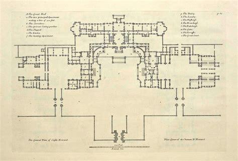 castle howard floor plan castle howard yorkshire vitruvius britannicus c1720