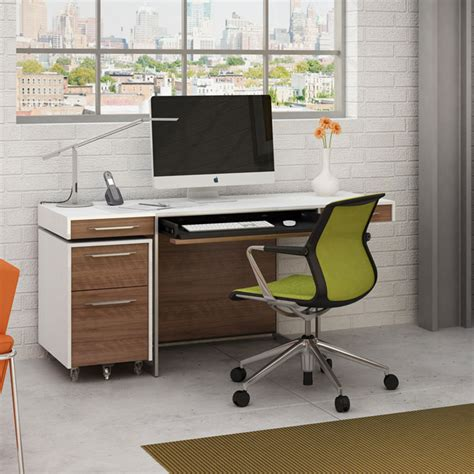 walnut computer desk modern desks bdi format modern walnut desk eurway