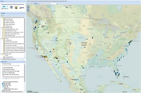 around the us interactive map interactive map of managed aquifer recharge projects