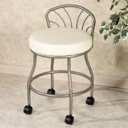 Vanity Chair Grey Rolling Vanity Stool Homesfeed
