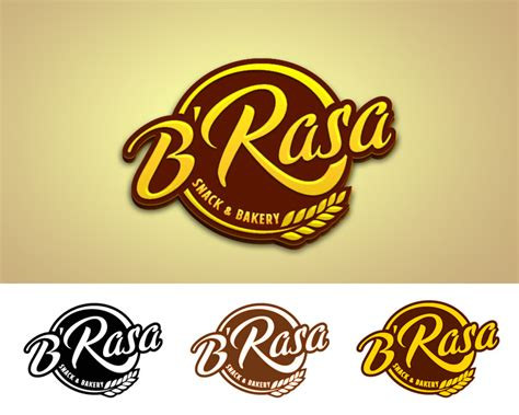 sribu logo design desain logo  brasa snack bakery