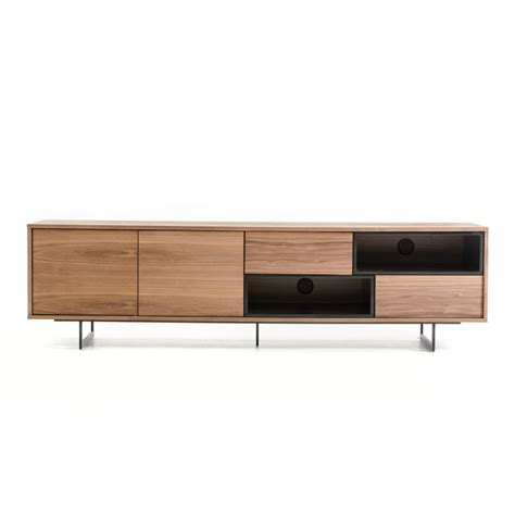 modern walnut furniture buy the modrest torlonia modern walnut black tv stand by