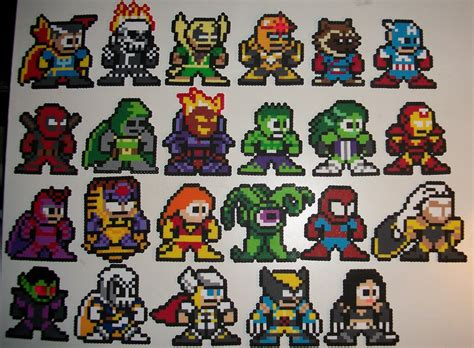 hama marvel marvel vs capcom 3 marvel side by elisbeadsprites