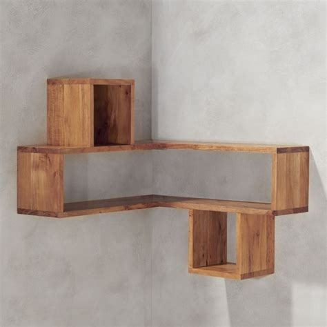 Corner Block Wood Shelf In Shelving Wall Hooks Reviews Wood Corner Shelves