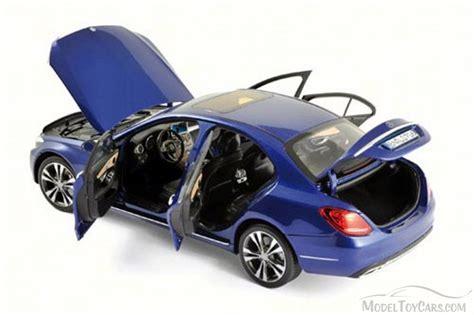 Diecast Blue Mercedes 2014 mercedes c class blue norev 183470 1 18 scale diecast model car