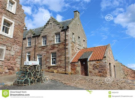 Traditional Cottages By Harbour Crail Scotland Editorial Cottages Crail