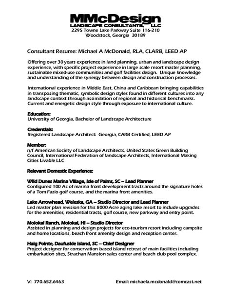 Resume Sles Environmental Consultant M Mc D Consultant Resume Template