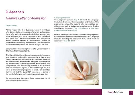 Mba Waitlist Letter by Preparation Guide To International Mba Admissions