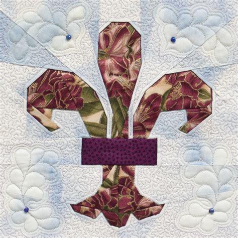 Fleur De Lis Quilt Pattern by Paper Piecing Quilts Of Praise Plus Giveaway Half