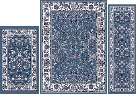 traditional blue rug traditional blue ivory 3 pcs vine leaf area rug runner mat set ebay