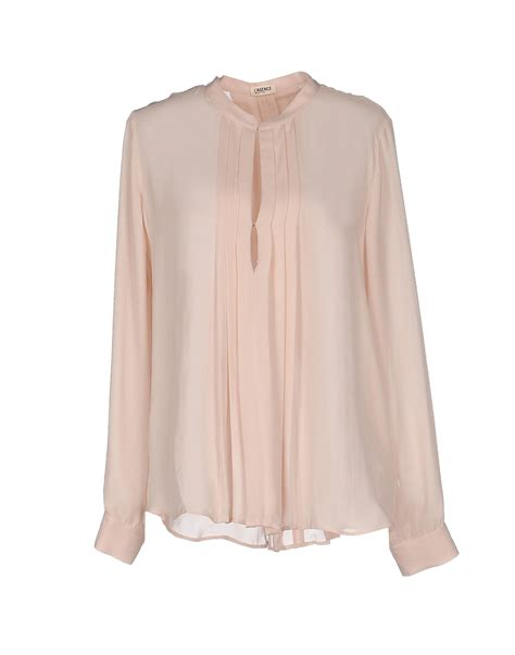 Blouse Pink l agence blouse in pink light pink lyst