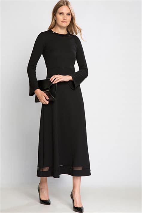 lc waikiki diz alti siyah elbise modelleri fiyati 19 90 tl pictures to siyah d 252 z uzun kollu uzun elbise online satış indirimli