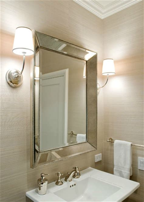beveled glass bathroom mirrors home design ideas vendome sconce transitional bathroom sutro architects