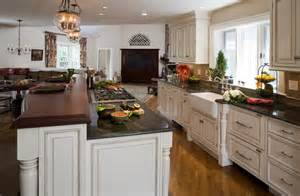 Open Floor Kitchen Designs by Open Floor Plan Transforms Colonial Traditional