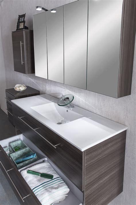Spiegelschrank Badezimmer 120 Cm by Sam 174 4tlg Badezimmer Set Spiegelschrank Tr 252 Ffeleiche 120