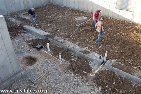 pour basement concrete slab for new home icreatables