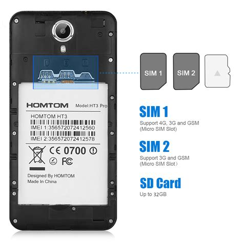 android sim card homtom ht3 pro 4g lte 5 quot hd android 5 1 2gb 16gb smartphone mobile eu ebay