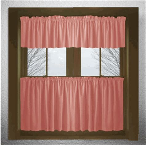 solid colored kitchen tier cafe curtains