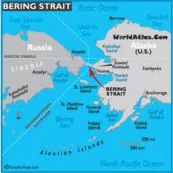 map of bering strait bering strait map world strait