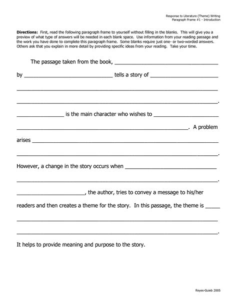 Essay Writing Frame by 13 Best Images Of Descriptive Paragraph Worksheet Descriptive Paragraph About Food