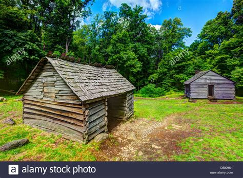 Log Cabin Smoky Mountains by Log Cabins At Roaring Fork Motor Trail In Great Smoky Mountains Stock Photo Royalty Free Image