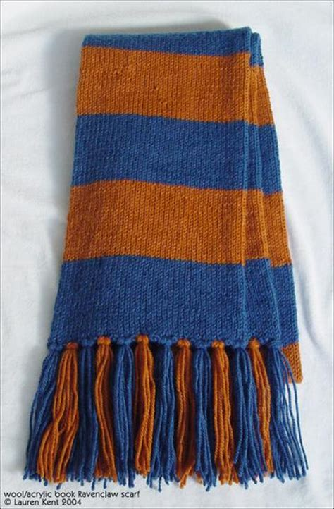 how to knit a striped scarf sorcerer s philosopher s style hogwarts