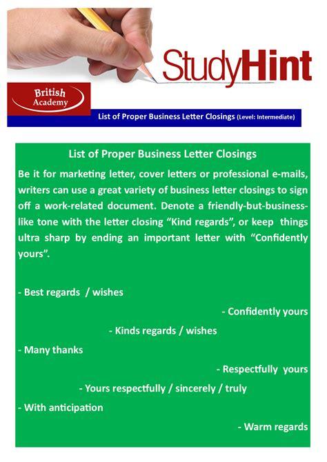 list of proper business letter closings list of proper business letter closings academy