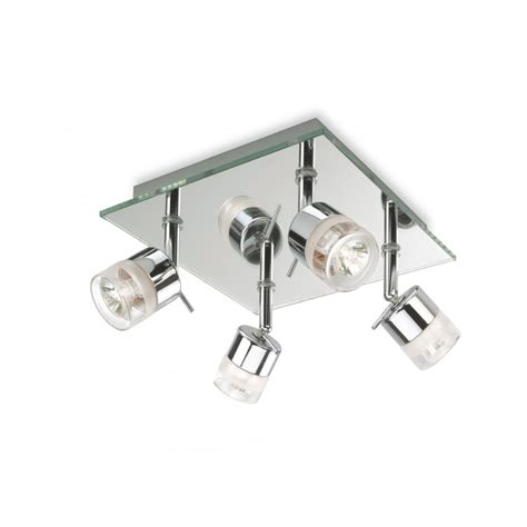 Light Fittings For Bathroom Firstlight 4 Spotlight Bathroom Light With Chrome And Mirror Glass Finish Fitting Type