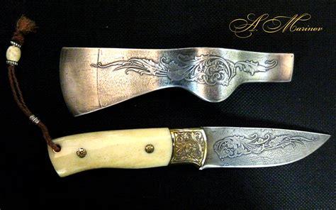 Рисунок на ноже вырезанный