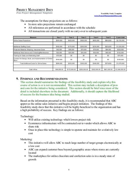 Feasibility Report Template Feasibility Study