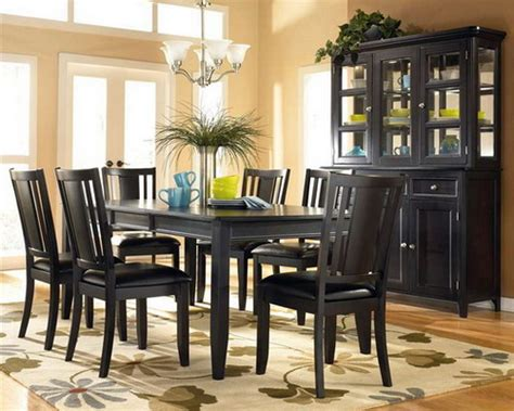 black wood dining room sets the aesthetic dark wood furniture for stylish home