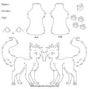 Fursona Template by Blank Fursona Reference Sheet Related Keywords Blank