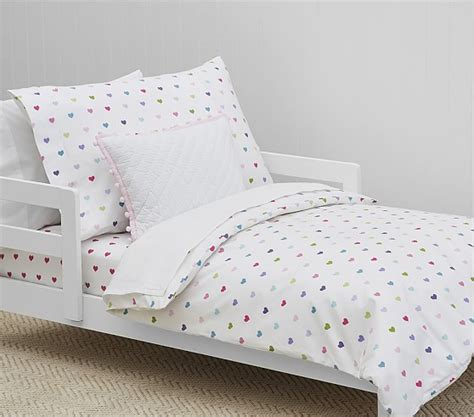 organic kids bedding organic multicolored heart toddler duvet cover pottery