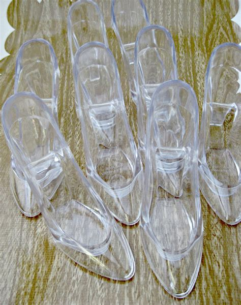 glass slipper favor set of 8 cinderella s glass slipper large by theglittershoppe