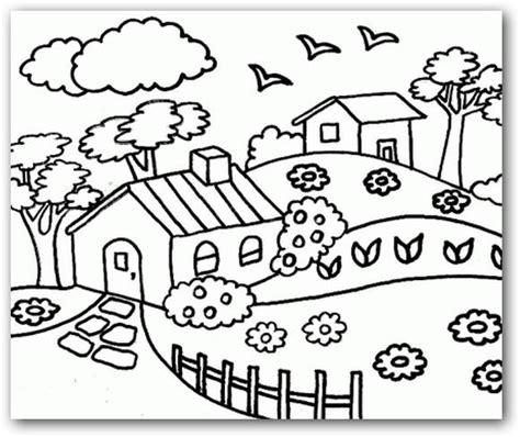imagenes bonitas de paisajes para colorear e imprimir dibujos para colorear paisajes dibujos para colorear