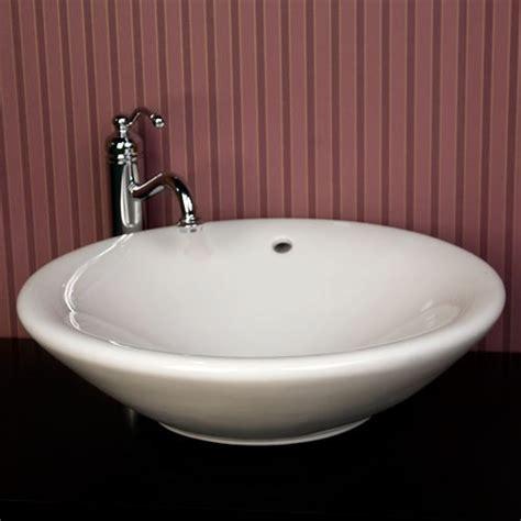 Bathroom Countertops For Vessel Sinks porcelain ceramic countertop bathroom vessel sink 21 x 6 1 4 inch