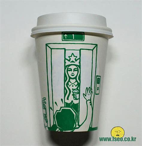 starbucks doodle it mug illustrator doodles on starbucks cups to turn mermaid into