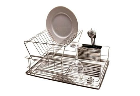 2 Tier Dish Rack Stainless Steel by Tesco 2 Tier Stainless Steel Dish Drainer Stainless Steel