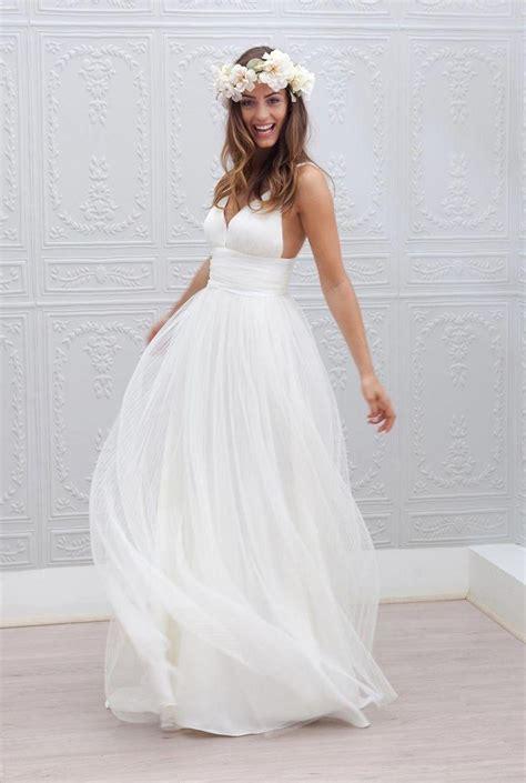 2015 beach wedding dresses cheap v neck spaghetti strap