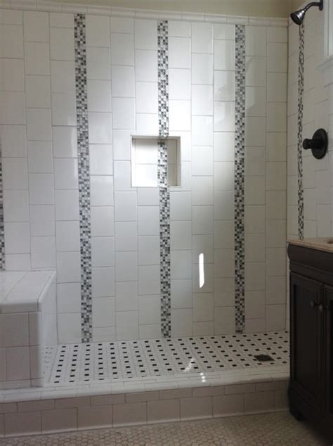 Small Bath Showers custom ceramic tile shower traditional bathroom new