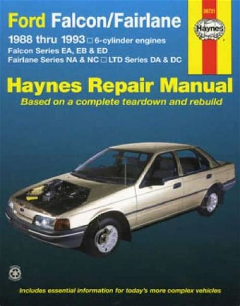 service manual service and repair manuals 1993 ford econoline e250 parental controls service ford falcon ea eb ed 6 cyl 1988 1993 haynes service repair manual workshop car manuals repair