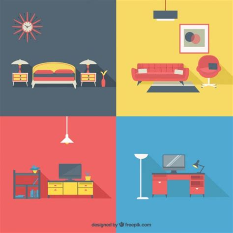 modern home design vector home furniture in modern style vector free download