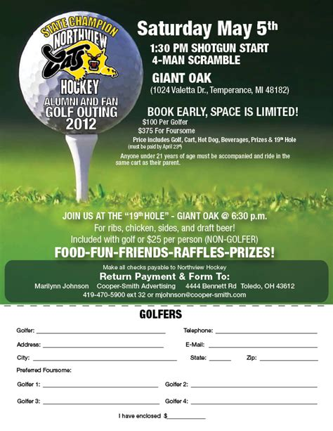 golf outing flyer template 2012 northview golf outing signup flyer lo