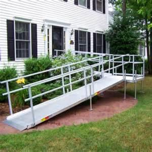 Handrails For Ramps Best 25 Aluminum Wheelchair Ramps Ideas On Pinterest
