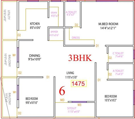 best direction for house to face 3 bhk house plans according to vastu