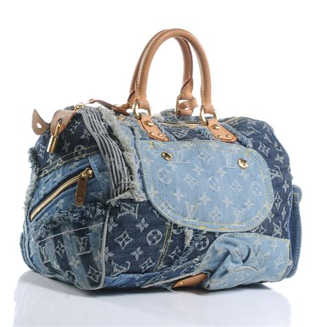 Patchwork Louis Vuitton - louis vuitton denim patchwork speedy 30 50963