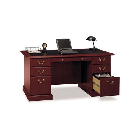 saratoga executive collection manager s desk bush saratoga 66 quot manager s desk and lateral file set ebay
