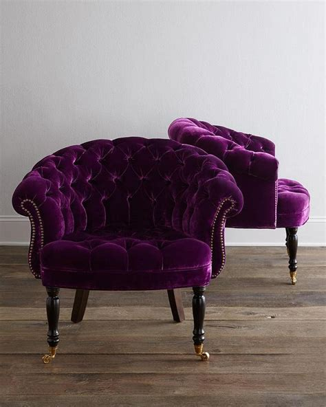 purple velvet armchair haute house sausalito purple velvet tufted chair