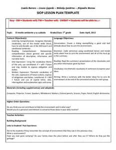 Tennessee Lesson Plan Template by Siop Unit Lesson Plan Template Sei Model Once A
